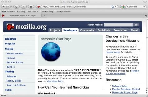 Namoroka Alpha 1 auf Mac OS X