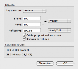 OSX Vorschau - Original