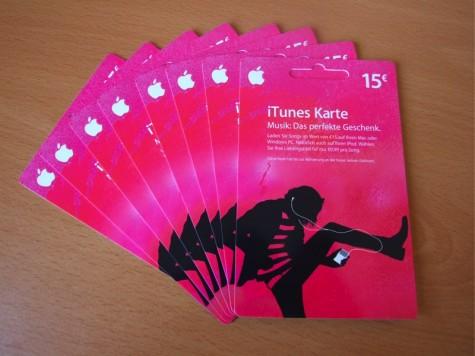 Die Acht iTunes 15 € Karten